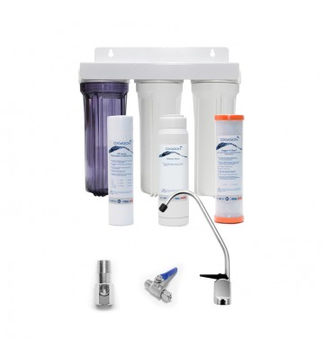 """Oxygon Soft 3-stage water filtration & softening system 10 """"x2,5"""" X-Clear 0,5mm, PP-5mm & Resin 5mm WPC-PN000002-41"""