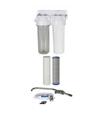 """Oxygon Economy 2-stage filtration system under the sink 10 """"x 2.5"""" Oxygon PP-Series 5mm and X-Clear 0,5mm WPC-PN000002-21"""