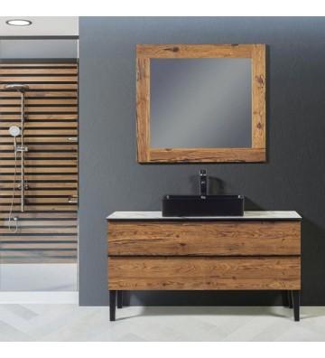 Solid Bathroom Furniture Natural 130